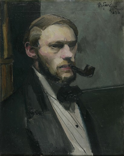 Self-Portrait with Pipe, 1912 oil, canvas, 40,5 x 33 cm. Modern Gallery, Zagreb