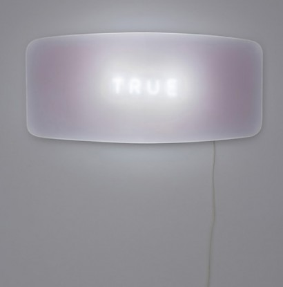 True, limited edition, neon light, 50x110x10 cm