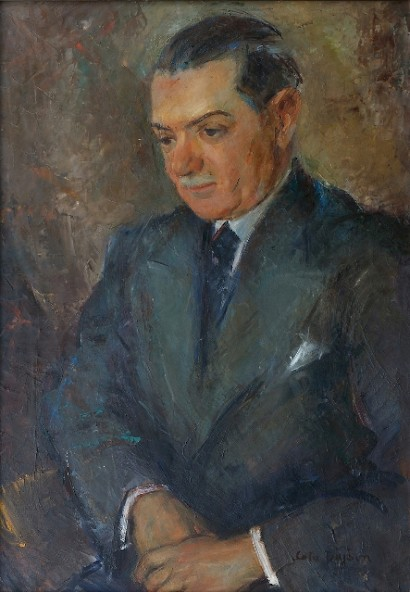 Cata Dujšin-Ribar, Ivo Tartaglia, around 1935, oil on canvas, 77 x 53,5 cm