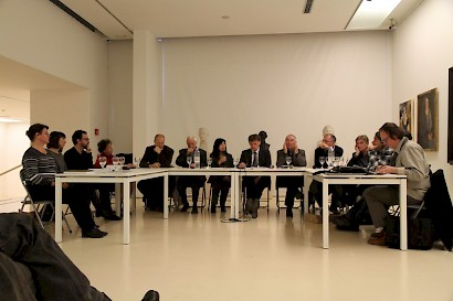 HE ROLE OF DR. IVO TARTAGLIA IN THE HISTORY OF SPLIT, panel, Museum of Fine Arts, 2015,