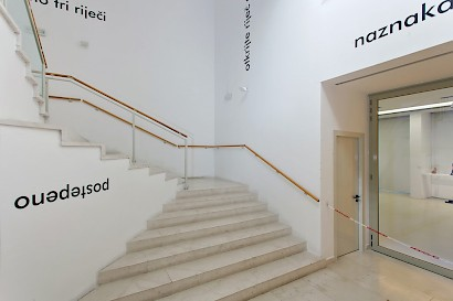 Jiří Valoch, Word as Image, installation veiw, Museum of Fine Arts Split, 2015