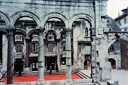 The Red Peristyle, photo by Zvonimir Buljević, 1968