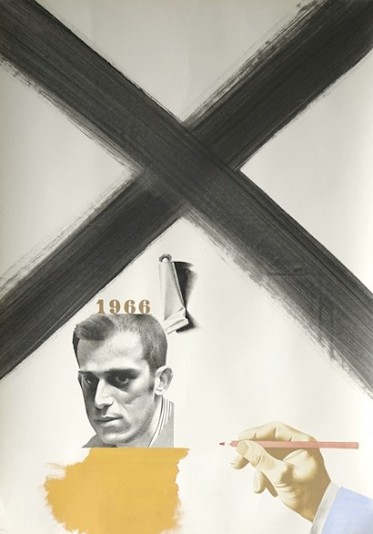 Untitled, mixed media on paper, 84 x 60 cm, 1966