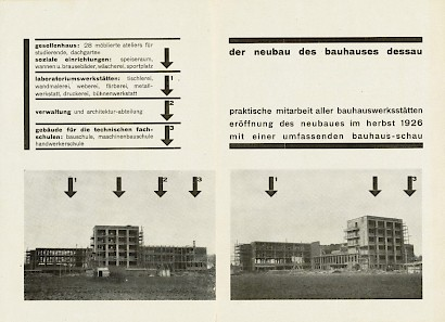 Flyer on the occassion of the construction of the new school in Dessau, 1926