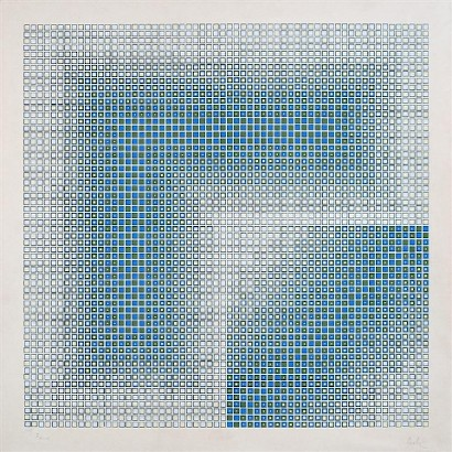 Vjenceslav Richter,  Systemic Print I, 1972