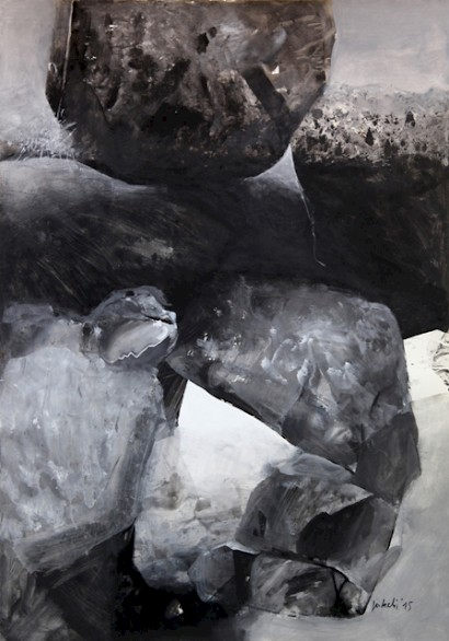 Petar Jakelic, Rocks, mixed-media, 120 x 84 cm, 2015.