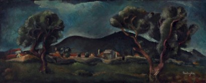 Marino Tartaglia, Marjan through Olives, c. 1920.