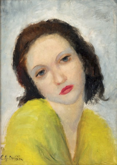 Cata Dujšin-Ribar, Puberty, 33 x 24 cm, oil on wood, 1931
