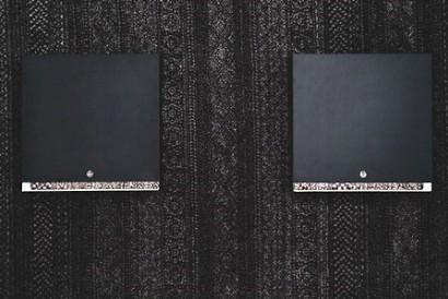 Josip Šurlin, Giles Blatta, diptych (two metal boxes 2 x 50x50x8 cm, carpet 190 x 130 cm), 2017
