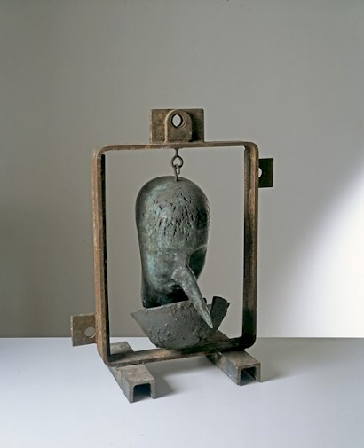 Mimmo Paladino, Dono, 1998. bronze and iron, 53 x 42 x 21 cm