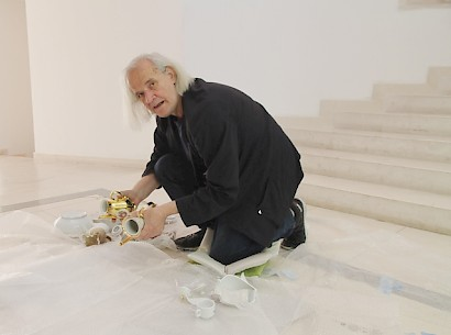 Momčilo Golub, making of the installation