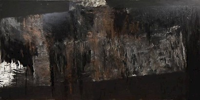Goran Fruk, The Third Substance, mixed media on canvas, 135 x 250 cm, 1988