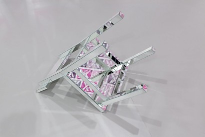 Chair Type III, glass mirror and steel,  61,5 cm x 45 cm x 81,5 cm, 2010