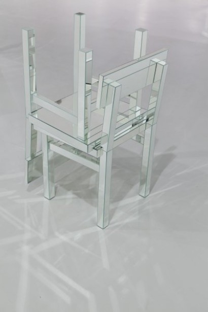 Chair Type IV, glass mirror and steel, 98 cm x 56 cm x 56 cm, 2010